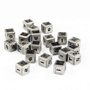 Sci-Fi Metal 12mm D6 Dice