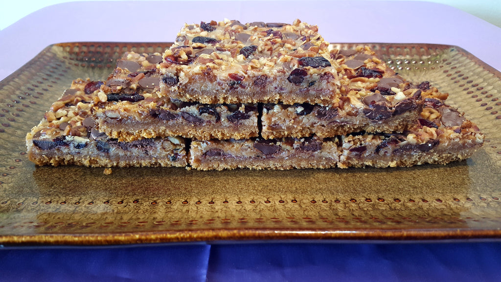 Dark Chocolate Cherry Cookie Bar