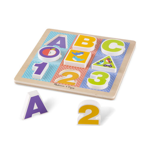 Wooden ABC-123 Chunky Puzzle