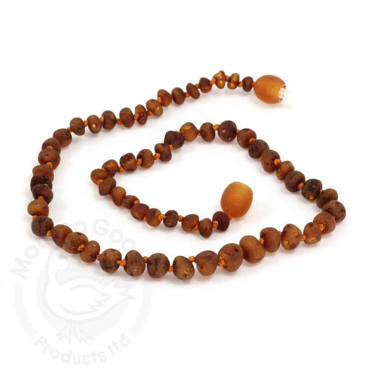 Amber Necklace - Unpolished Baroque Cognac - Crunch Natural Parenting is where to buy