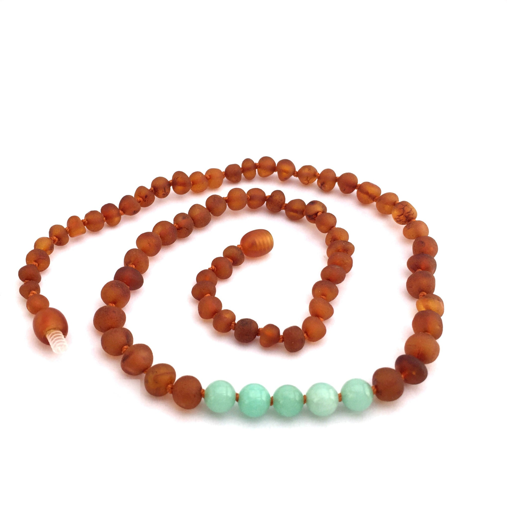 Amber and Amazonite Necklace - Crunch Natural Parenting is where to buy
