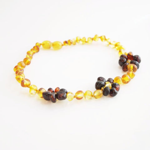 Amber Flower Necklace - Crunch Natural Parenting is where to buy