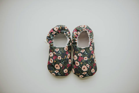 Fable Floral Organic Baby Moccs, by Weepereas - Crunch Natural Parenting is where to buy