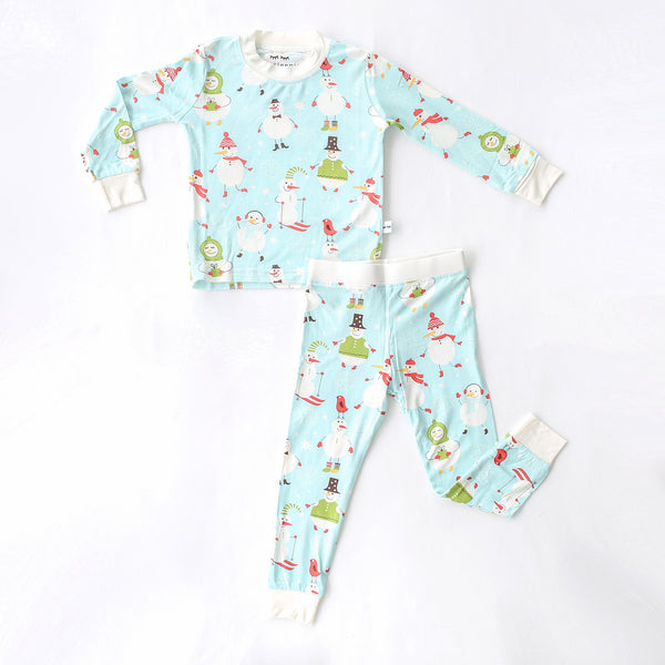 Little Sleepies - Snowman Pajama Set - Baby/Toddler - Crunch Natural Parenting is where to buy