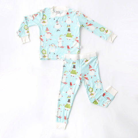 Little Sleepies - Snowman Bamboo Pajama Set - Baby/Toddler - Crunch Natural Parenting is where to buy