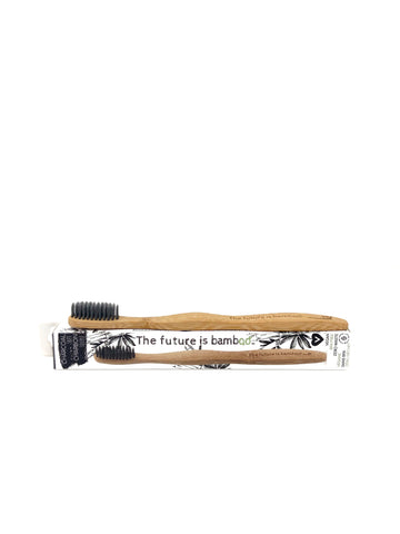 Bamboo & Charcoal Toothbrush - Crunch Natural Parenting is where to buy
