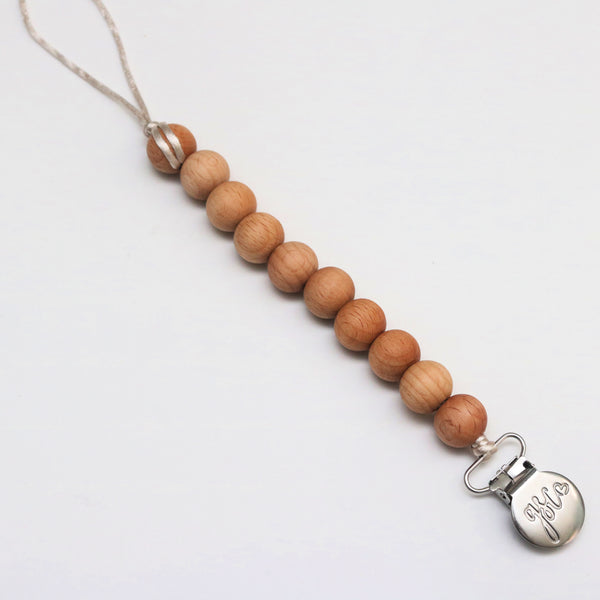 Beech Wood Pacifier Clip - Crunch Natural Parenting is where to buy