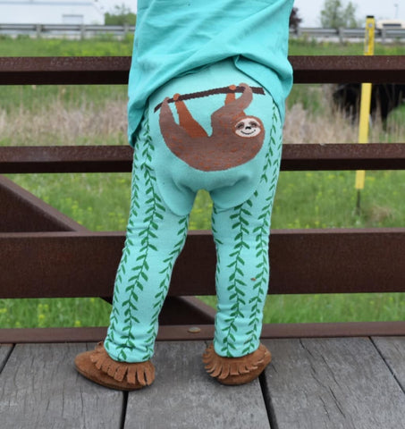 Doodle Pants Happy Sloth Leggings - Crunch Natural Parenting is where to buy