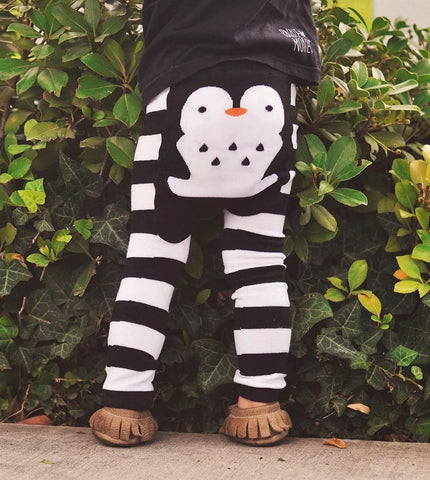 Penguin Stripes Cotton Leggings - Crunch Natural Parenting is where to buy