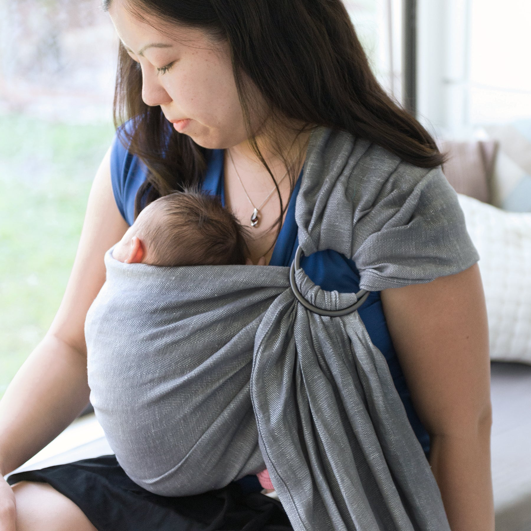 Studio Tekhni - The Sling Baby Carrier | Graphite + Grey - Crunch Natural Parenting is where to buy