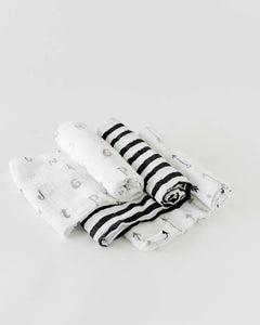 Little Unicorn Black and White- Cotton Swaddle Set - Crunch Natural Parenting is where to buy
