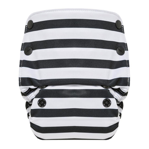 GroVia All In One Diaper - Onyx Stripe - Crunch Natural Parenting is where to buy