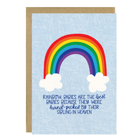 """Rainbow Babies"" Greeting Card - Crunch Natural Parenting is where to buy"