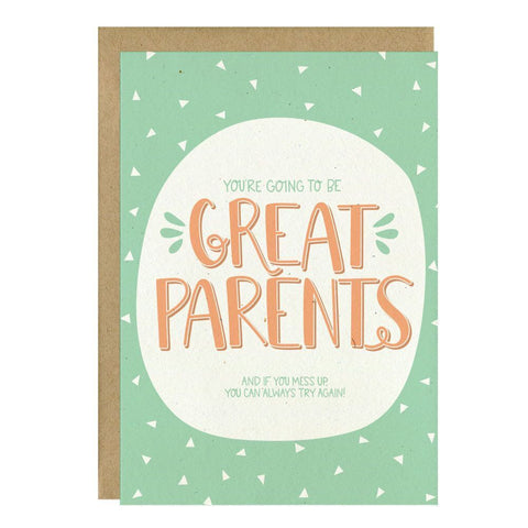 """Great Parents"" Greeting Card - Crunch Natural Parenting is where to buy"