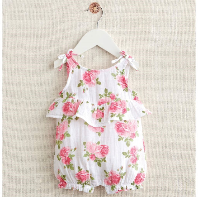 MudPie Muslin Rose Bubble Romper - Crunch Natural Parenting is where to buy