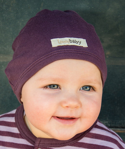 Organic Baby Hat - Eggplant - Crunch Natural Parenting is where to buy