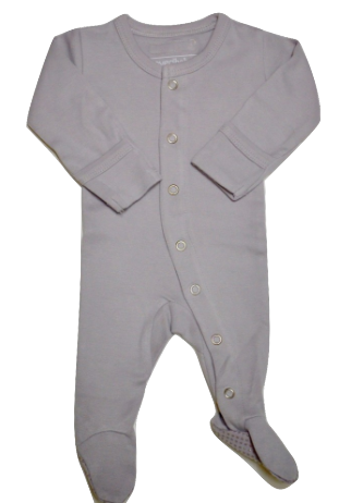 Organic Long Sleeve Jammies - Light Grey - Crunch Natural Parenting is where to buy