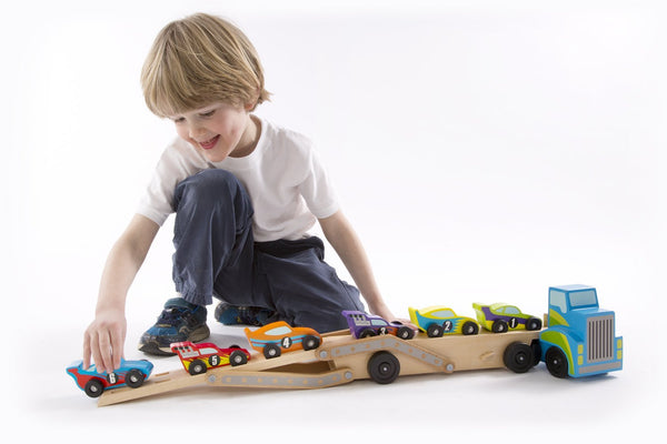 Mega Wooden Car Carrier - Crunch Natural Parenting is where to buy