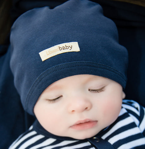 Organic Baby Hat - Navy - Crunch Natural Parenting is where to buy