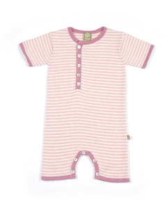 Pink Striped Lux Romper - Crunch Natural Parenting is where to buy
