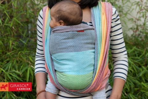 Girasol Woven Wrap - Light Rainbow - Crunch Natural Parenting is where to buy