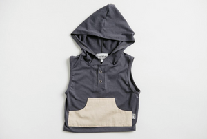 Montauk Hoodie - Slate - Crunch Natural Parenting is where to buy
