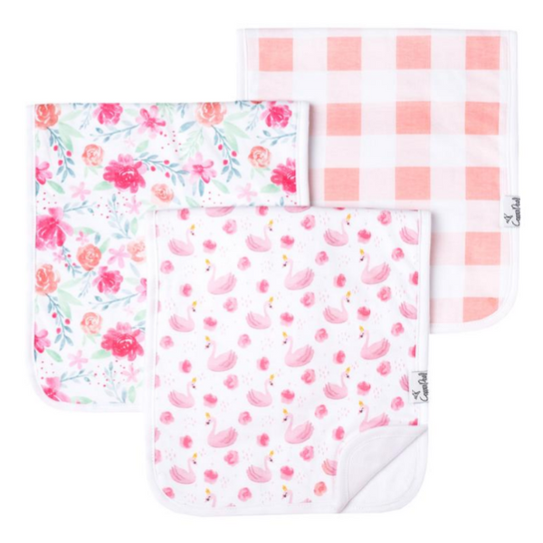 Premium Burp Cloths 3 Pack - June - Crunch Natural Parenting is where to buy
