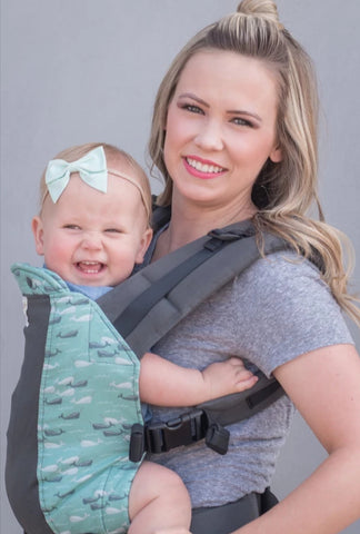 *Gently Used* Standard Size/Standard Straps Kinderpack Carrier  - Narwhals with Koolnit - Crunch Natural Parenting is where to buy