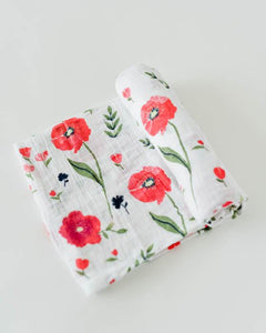 Summer Poppy- Little Unicorn Cotton Swaddle - Crunch Natural Parenting is where to buy