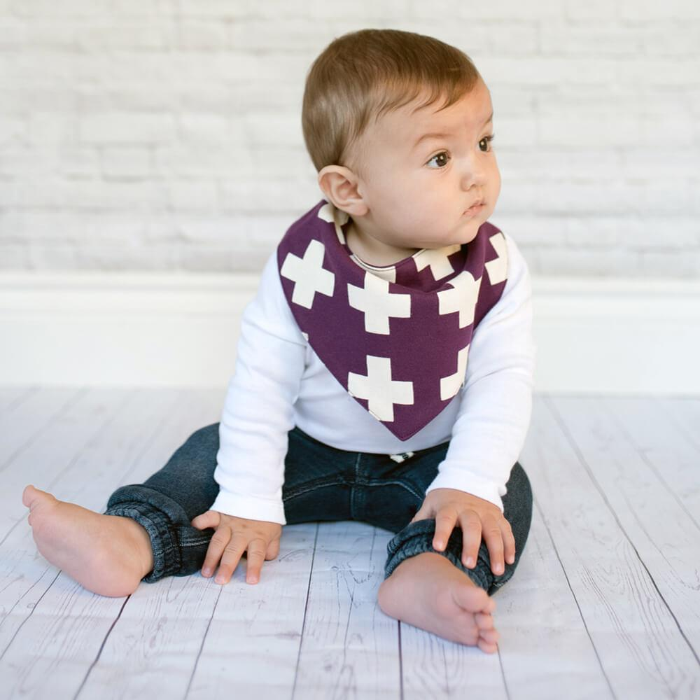 Mulberry Bandana Bib - Crunch Natural Parenting is where to buy