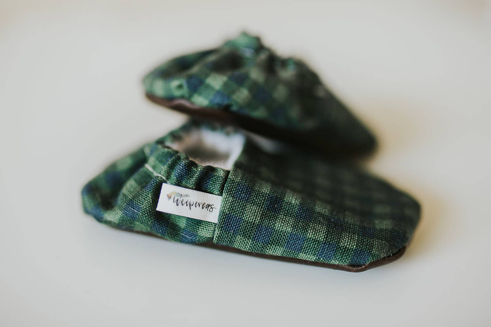 Green Plaid Organic Baby Shoes, by Weepereas - Crunch Natural Parenting is where to buy