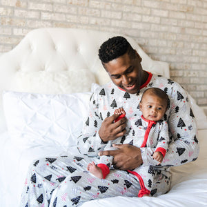 Little Sleepies - Christmas Trees convertible romper/sleeper - Crunch Natural Parenting is where to buy