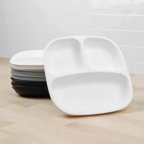 Re-Play Toddler Tableware - Monochrome Divided Plates - Crunch Natural Parenting is where to buy