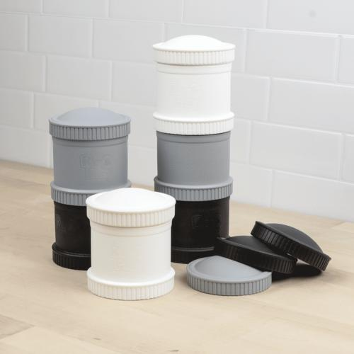 Re-Play Toddler Tableware - Monochrome Snack Pods