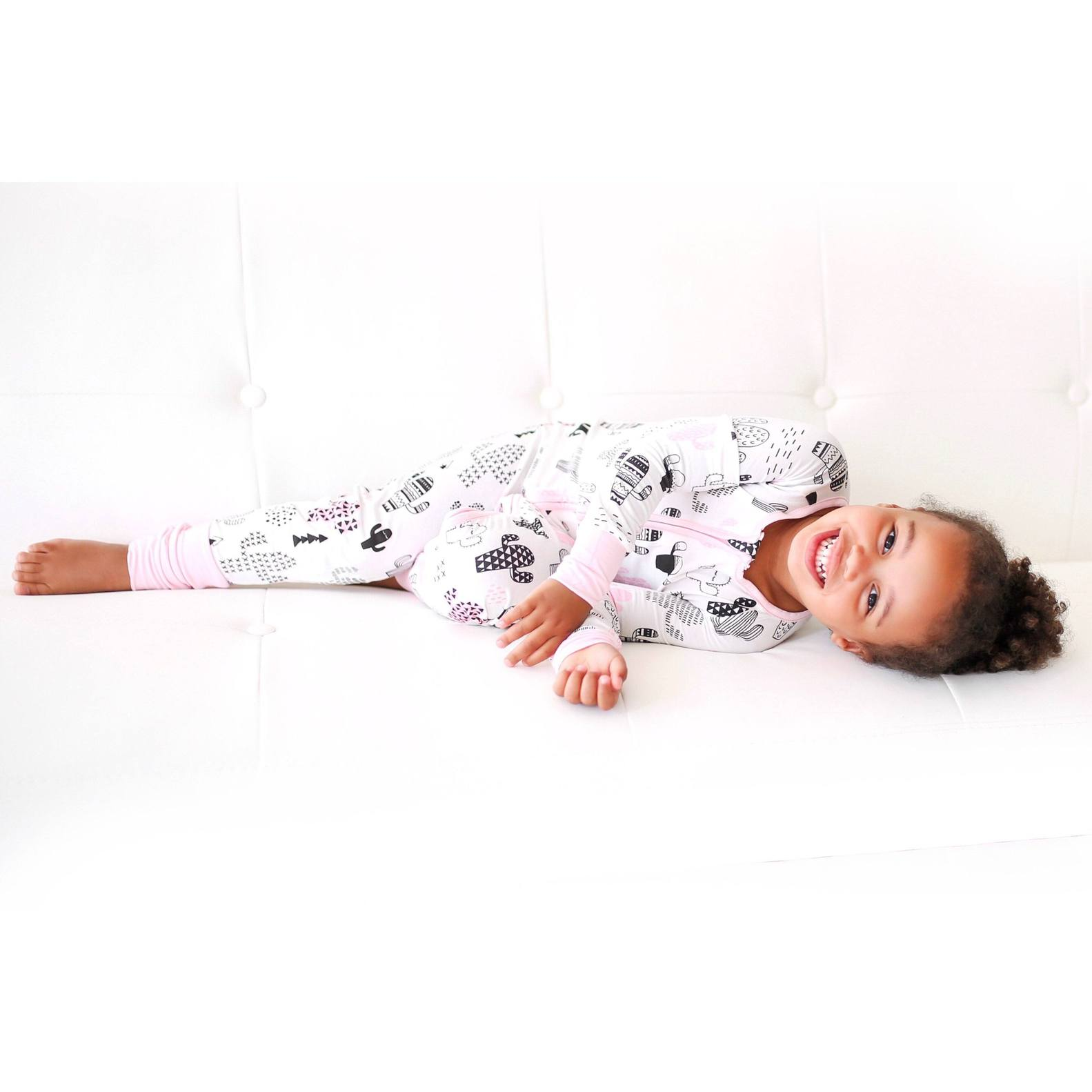 Little Sleepies - Pink Cactus convertible romper/sleeper - Crunch Natural Parenting is where to buy