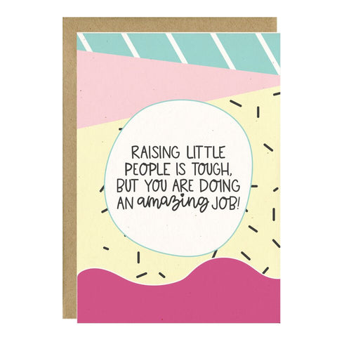 """Raising Little People"" Greeting Card - Crunch Natural Parenting is where to buy"