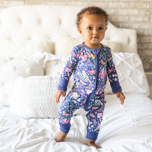Little Sleepies - Woodland Magic convertible romper/sleeper - Crunch Natural Parenting is where to buy