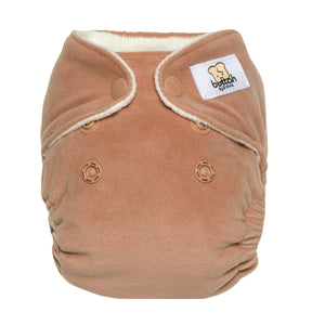 GroVia Buttah Newborn All in One Diaper - Clay - Crunch Natural Parenting is where to buy