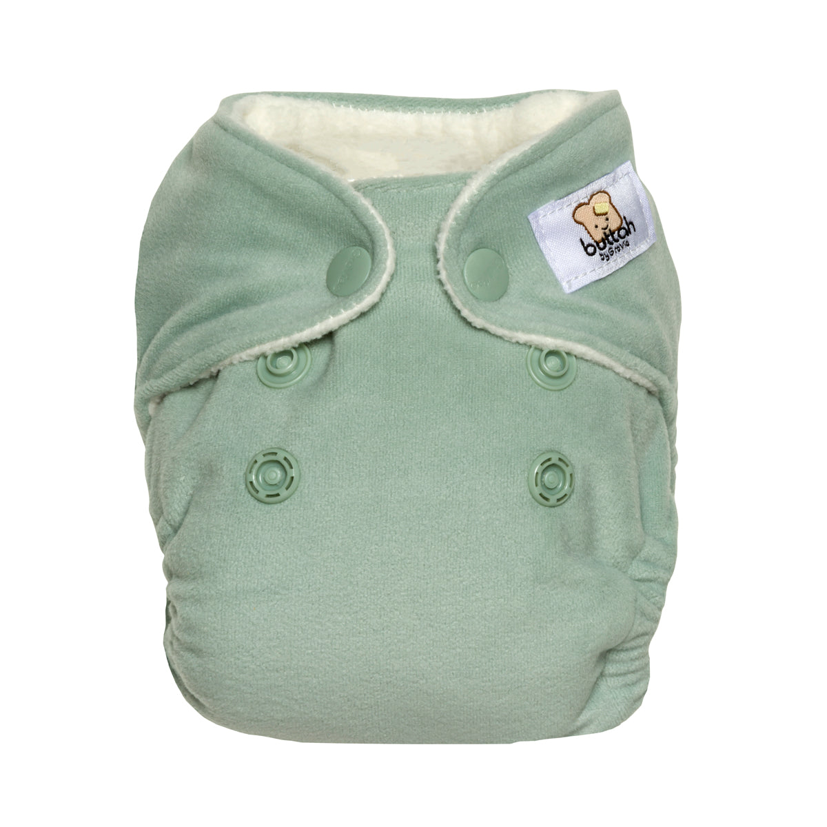 GroVia Buttah Newborn All in One Diaper - Glacier - Crunch Natural Parenting is where to buy