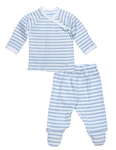 Under the Nile Newborn 2 Piece Outfit - Blue Stripes