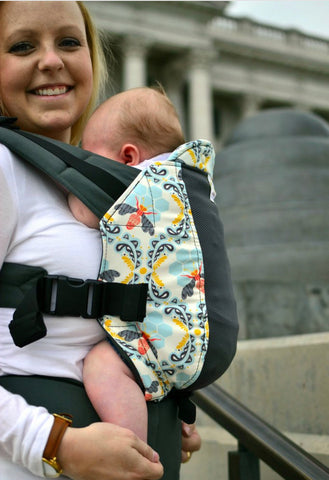 Infant Size Kinderpack Carrier/Plus Straps - Bee Sweet with Koolnit - Crunch Natural Parenting is where to buy
