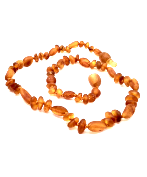 Amber Necklace - Unpolished Olive Cognac & Polished Baroque Cognac - Crunch Natural Parenting is where to buy