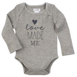 Love Made Me Onesie - Crunch Natural Parenting is where to buy