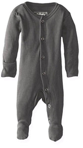 Organic Long Sleeve Jammies - Grey - Crunch Natural Parenting is where to buy
