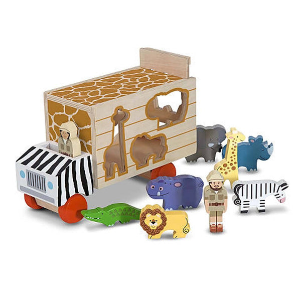 Animal Rescue Truck Wooden Play Set - Crunch Natural Parenting is where to buy