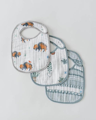 Bison - Little Unicorn Cotton Muslin Classic Bibs 3 Pack - Crunch Natural Parenting is where to buy
