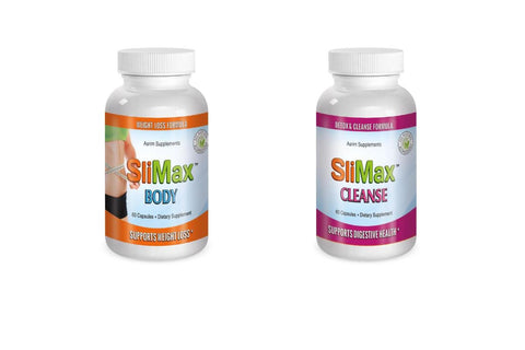 Slimax Slimax Cleanse, Body Fat Burning System 2 Bottle System  Weight Loss Pills