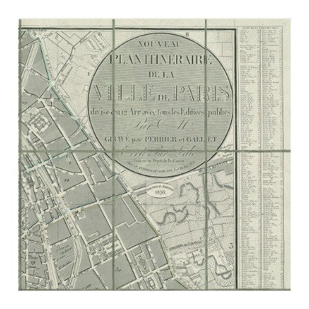 Maps of Paris Series - WJC Design