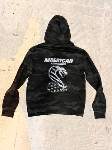 Black Camo Killer Cobra zip-up hoodie