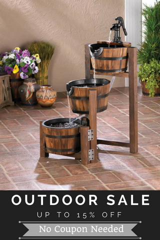 Up to 15% on all outdoor products